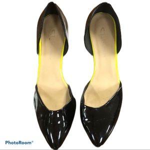 CL by Laundry d'Orsay Black Patent pumps sz 9